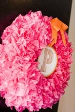 Tissue Paper Wreath Tutorial - A Blissful Nest