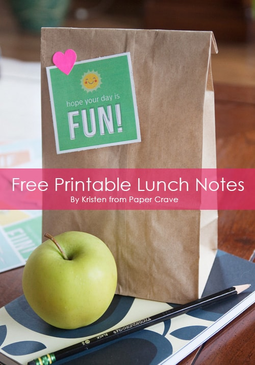 7 Free Printable Lunch Box Notes by Paper Crave at LivingLocurto.com