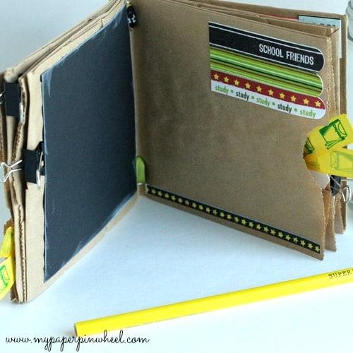 Back to School Paper Bag Album Craft by My Paper Pinwheel. LivingLocurto.com