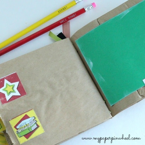 Back to School Paper Bag Album Craft by My Paper Pinwheel. LivingLocurto.com