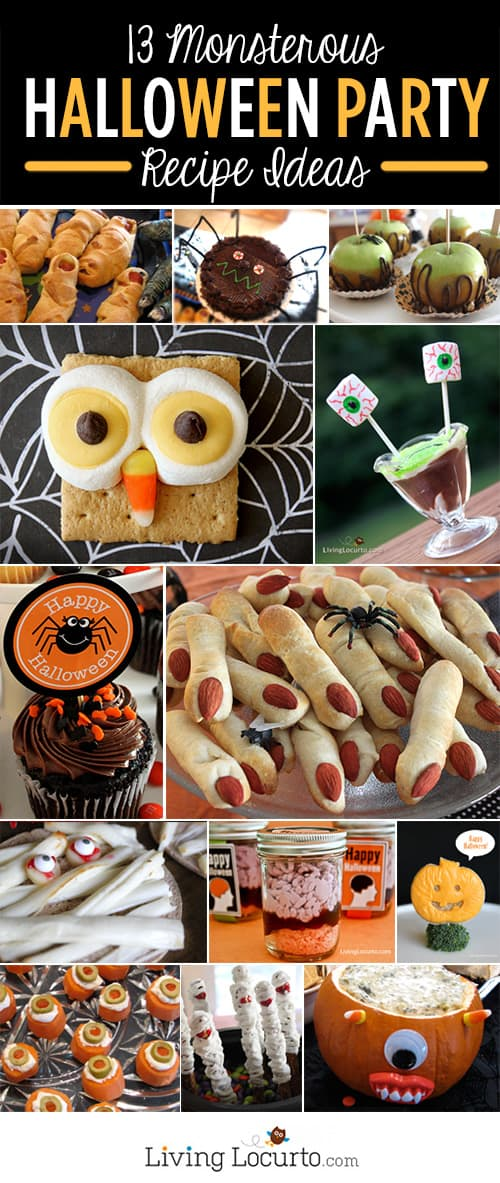 your party guests will get a kick out of these 13 monsterous halloween food ideas