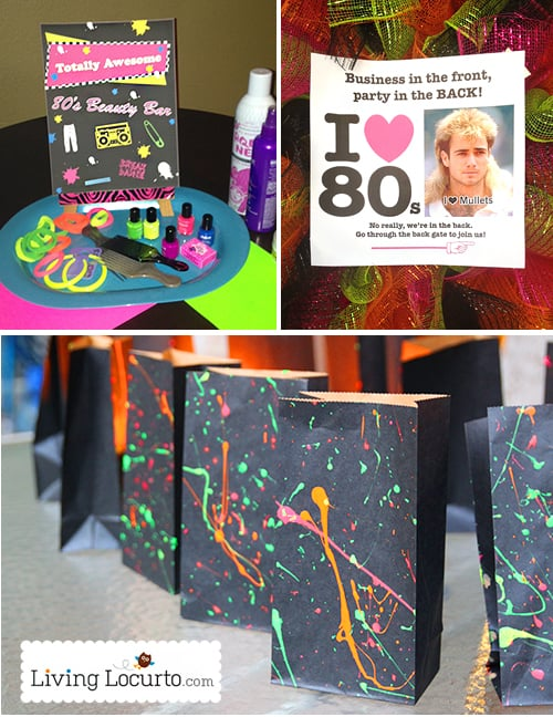 Awesome 80 39 s birthday party ideas 1980 39 s party printables for 1980s decoration ideas