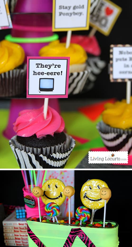 Awesome 80 39 s birthday party ideas 1980 39 s party printables for 80s cake decoration ideas