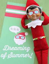 Elf on the Shelf Beach Towel & Sunglasses - Exclusive Printable LivingLocurto.com