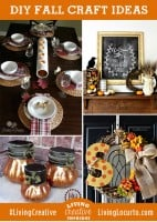 4 Easy Fall DIY Craft Decorating Ideas {Living Creative Thursday}