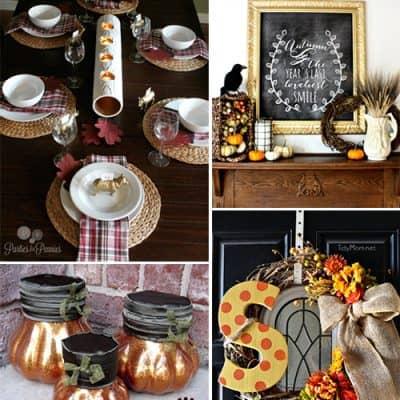 4 Easy Fall DIY Craft Decorating Ideas {Living Creative Thursday}