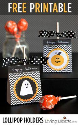 DIY Halloween Lollipop Holders