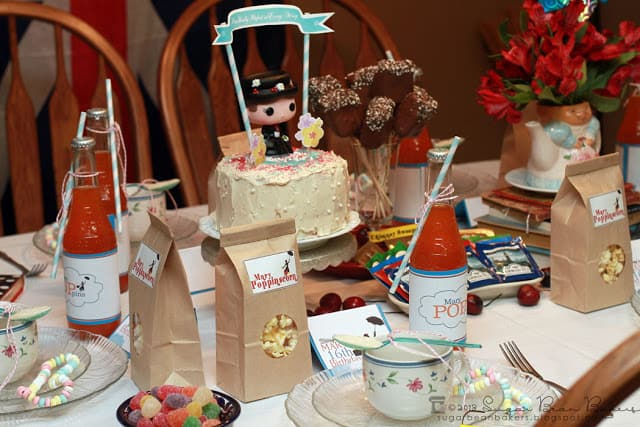 Sweet 16 Mary Poppins Birthday Party by Sugar Bean Bakers featured on Living Creative Thursday at LivingLocurto.com