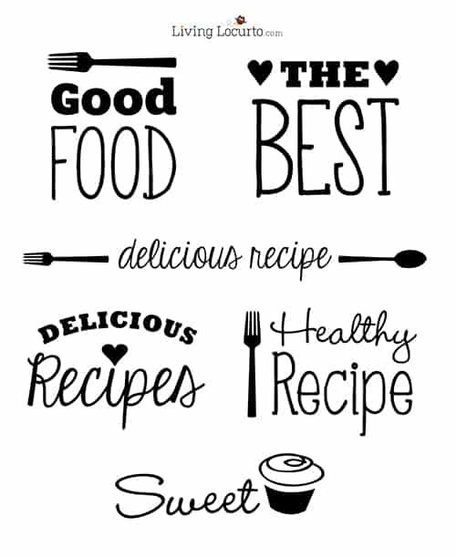 Recipe Sayings - Photoshop Overlays LivingLocurto.com