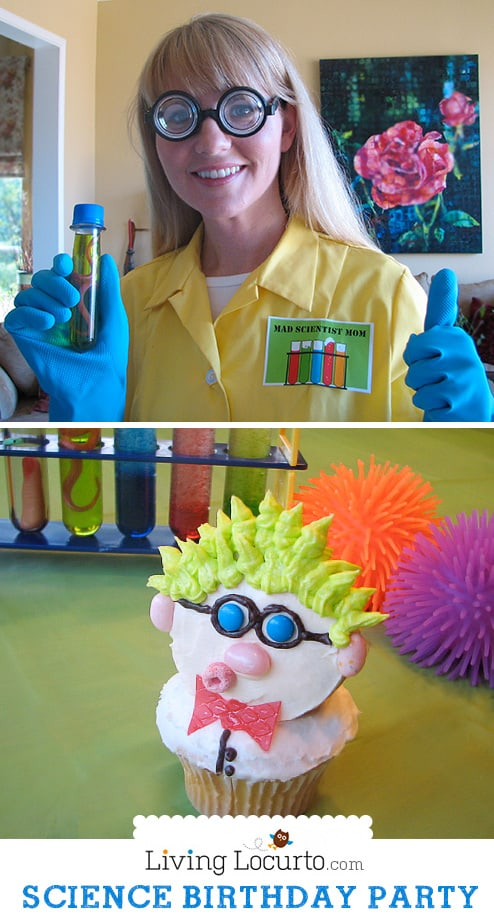 Science Birthday Party Ideas with Free Party Printables! LivingLocurto.com