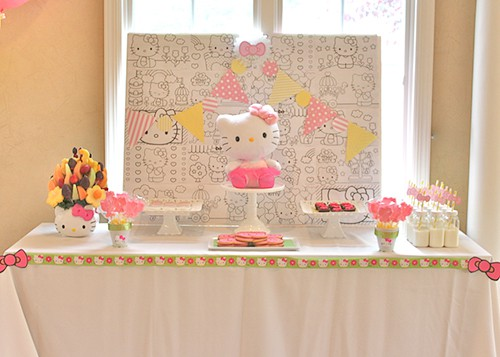 Hello Kitty Birthday Party by Shannon from Partying with the Princesses featured on Living Creative Thursday at LivingLocurto.com