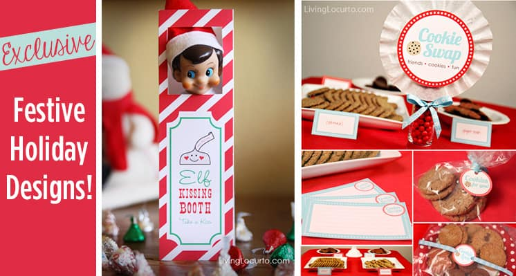 Exclusive Holiday Party Printable Designs and more from Amy at LivingLocurto.com!