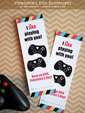 Video Game Valentine Bookmark