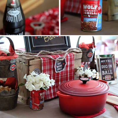 Chili Party Dinner Idea   Free Printables