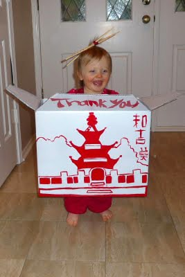 How fun is this Chinese Take Out Box Costume by Milk & Cuddles?