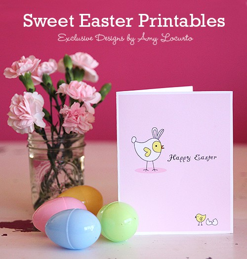 Baby Chicks Easter Printables and Easter Card. Living Locurto Fun Club
