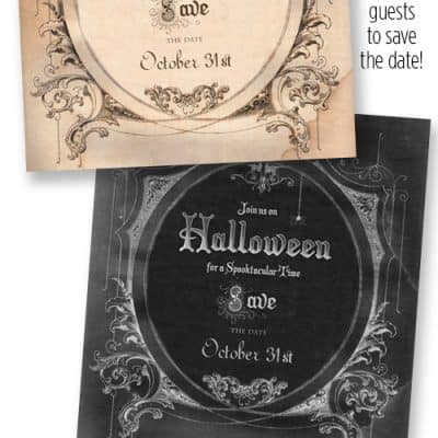 Halloween Party – Save the Date Invitation {Free Graphic}