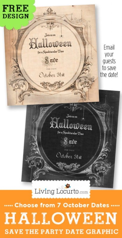 Halloween Party Save The Date Invitation Free Graphic