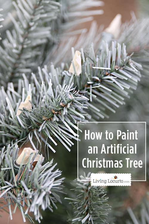 How to Paint a Christmas Tree - White Christmas Tree Challenge