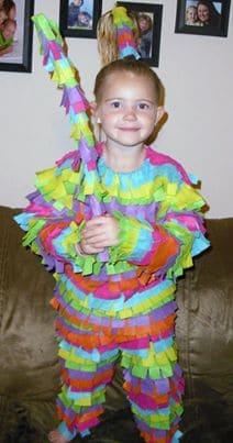 Kid Pinata Halloween Costume featured on Living Creative Thursday at LivingLocurto.com