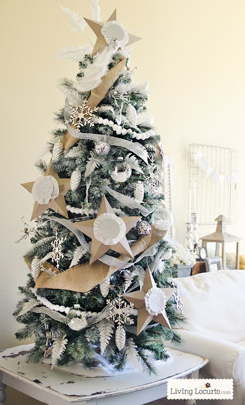 How to Paint a Christmas Tree White - Easy Christmas Crafts