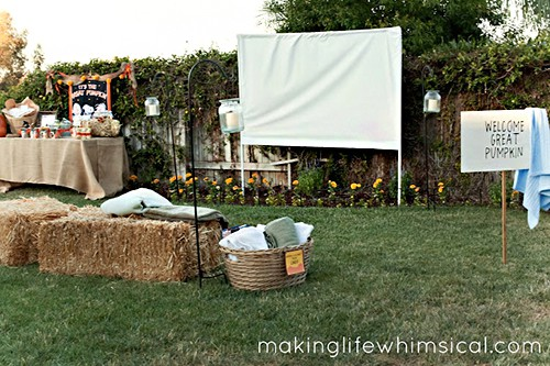 Making Life Whimsical hosted the most awesome It's a Great Pumpkin Movie Night Party!