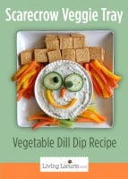 Scarecrow Veggie Tray and Dill Dip Recipe