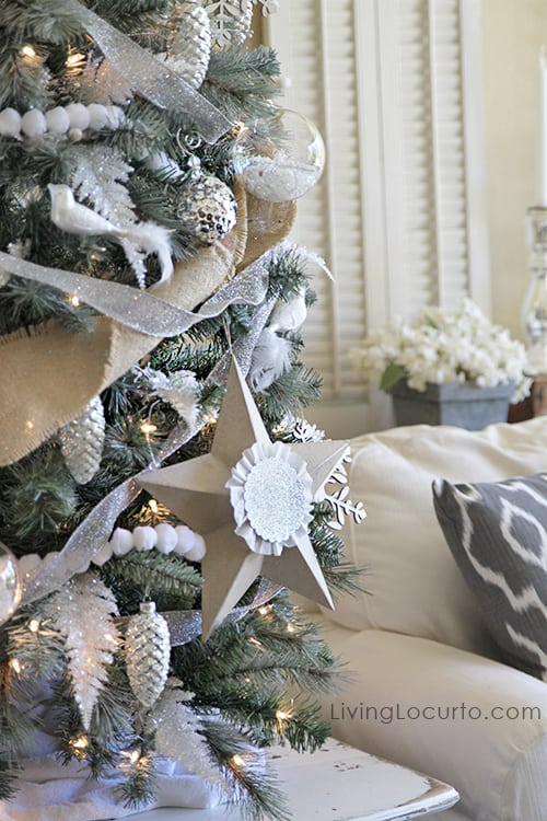 diy christmas tree star ornaments - Large Christmas Tree Ornaments