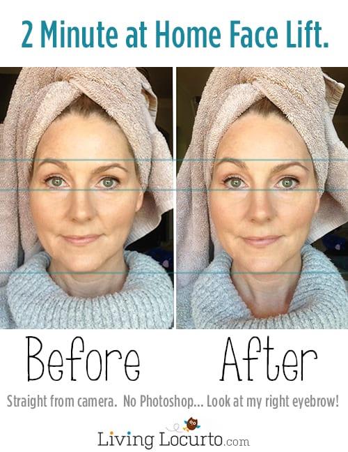 DIY at Home Face Lift Beauty Treatment. LiivingLocurto.com
