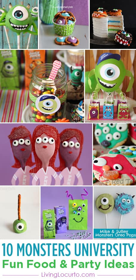 10 Monsters University Fun Food Recipes Crafts Party Ideas For Family Movie Night