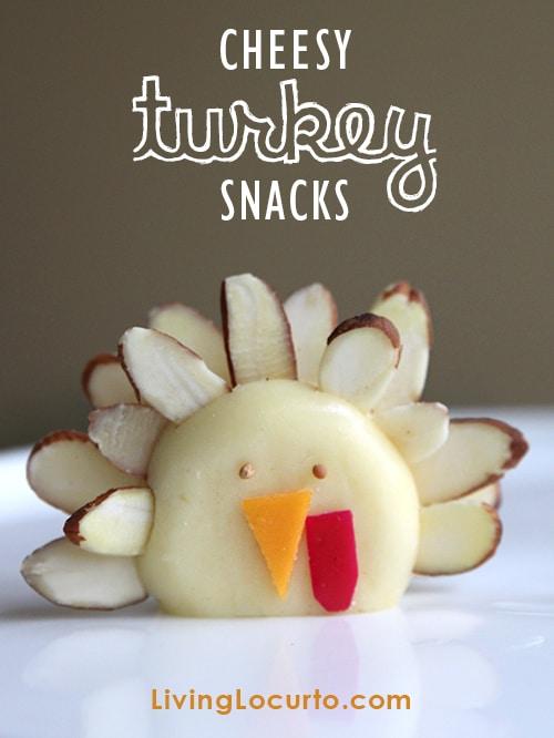 Cute Turkey Cheese Snacks for Kids! LivingLocurto.com