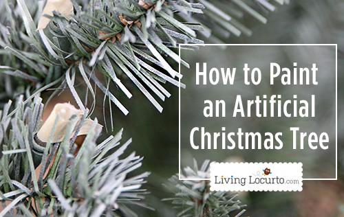 how to paint a christmas tree tutorial