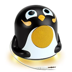 penguin portable speakers- Awesome holiday Christmas gift ideas for kids of all ages! LivingLocurto.com