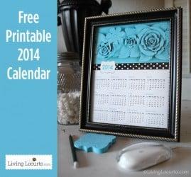 2014 Free Printable Calendar LivingLocurto.com