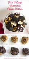 Easy Chocolate Pecan Turtles