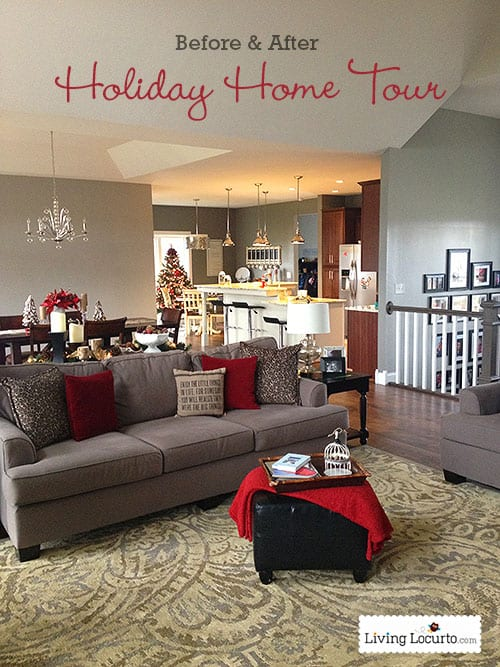 DIY Holiday Home Tour {Before & After} LivingLocurto.com