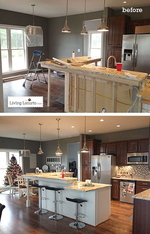 DIY Holiday Home Tour - Kitchen Before & After. LivingLocurto.com