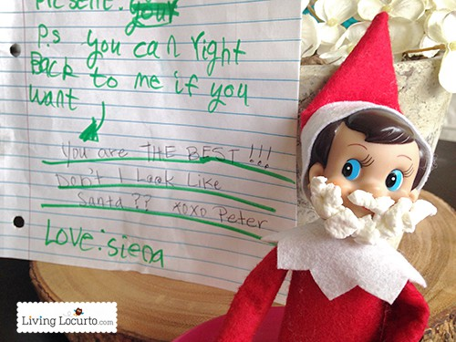 Simple Elf on the Shelf Ideas. Printables and funny photos for Christmas time fun! LivingLocurto.com