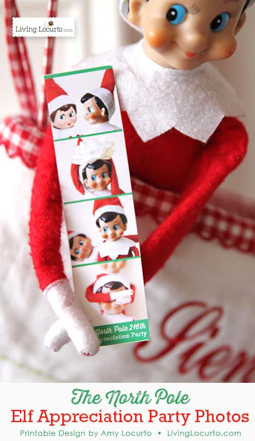 Cute Elf on the Shelf Printables! - Elf Appreciation Party Photos from The North Pole by LivingLocurto.com