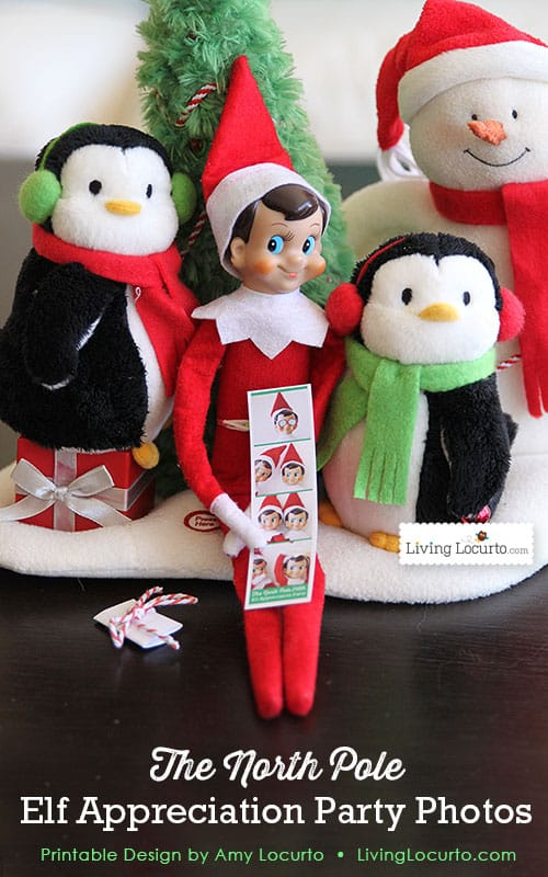 Elf appreciation party photos from the north pole printable for Elf shelf craft show