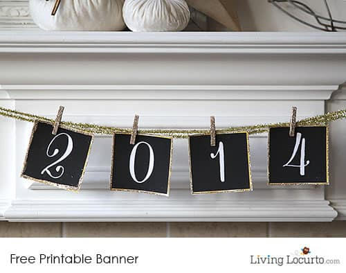Free Printable 2014 New Years Eve Banner - DIY Party Ideas LivingLocurto.com