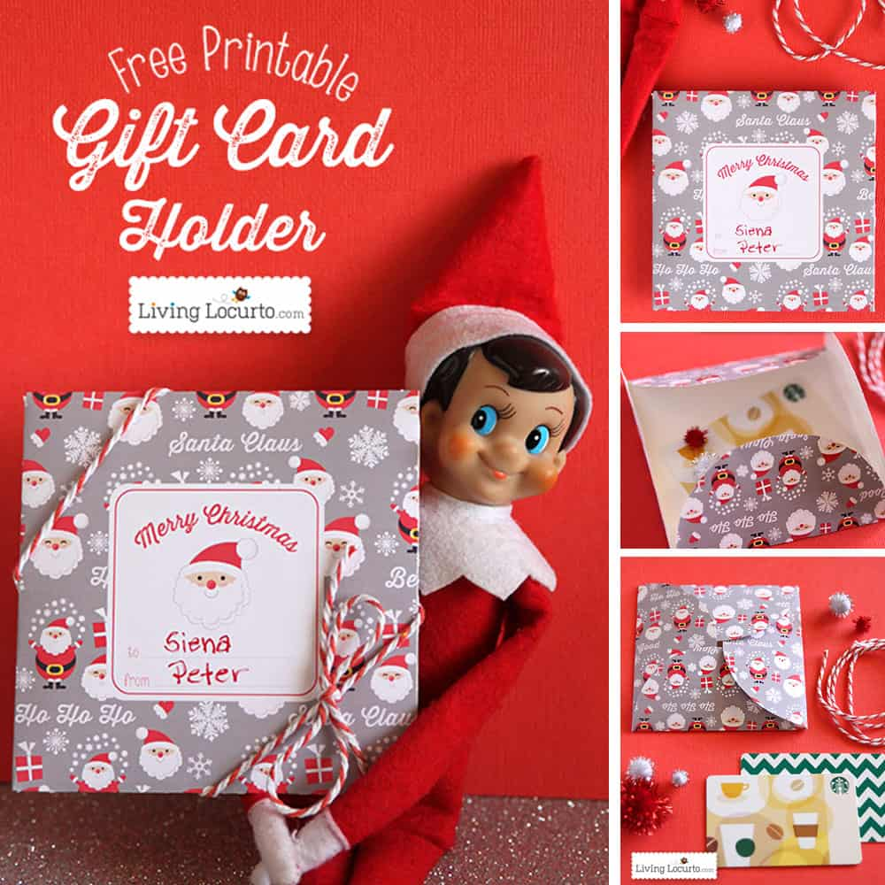 Free printable diy christmas gift card holder alramifo Choice Image