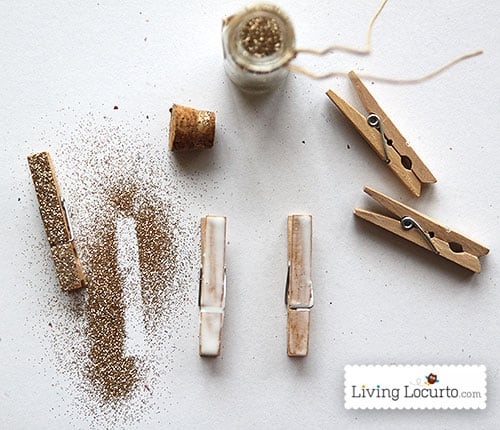 DIY Glitter Mini Clothes Pins Craft - LivingLocurto.com