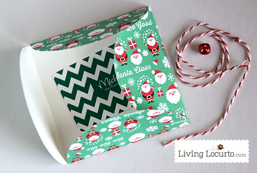 Printable Santa Themed Gift Card Holder by LivingLocurto.com