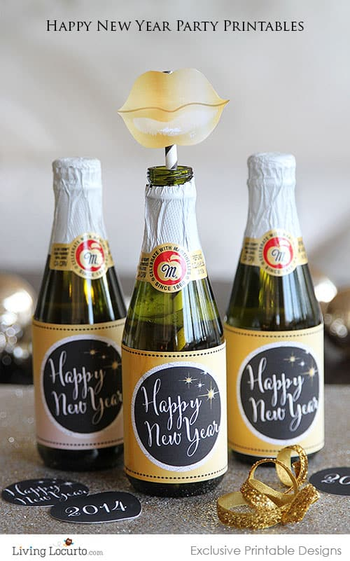New Years Eve Party Ideas and Printables. LivingLocurto.com