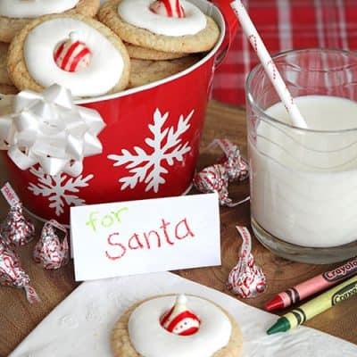 Santa Hat Peppermint Sugar Cookies