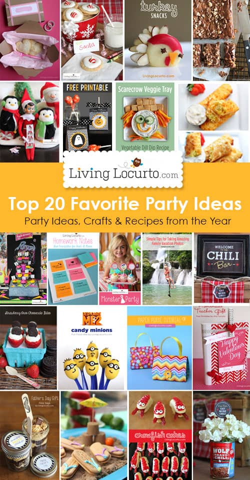 Top 20 Favorite DIY Party Ideas, Crafts and Recipes from LivingLocurto.com