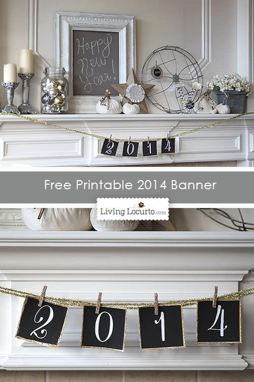 free printable 2014 new years eve banner diy party ideas livinglocurtocom