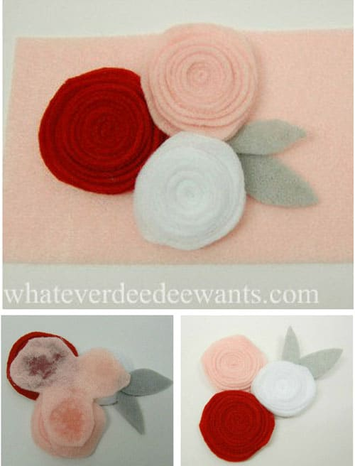 Simple DIY Felt Flower Craft - Felt Flower Corsage by Diana from Whatever DeeDee Wants for LivingLocurto.com