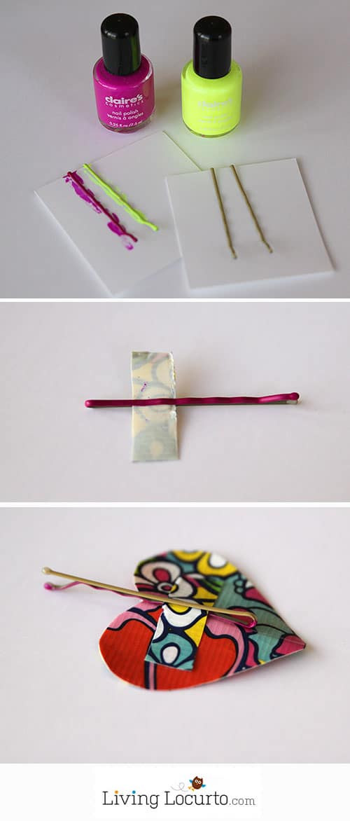 Duct Tape Heart Hair Clip Tutorial. LivingLocurto.com